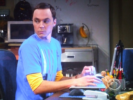 Shedlon et Gollum dans The Big Bang Theory